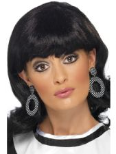 Mod Earrings 60s (Black/White)
